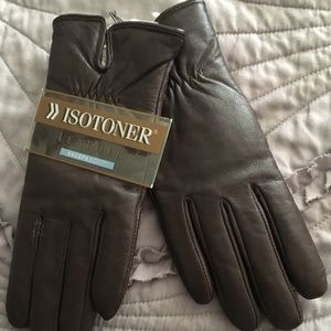 Sherpa lined leather gloves NWT